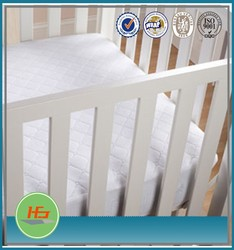 Super soft cotton waterproof crib mattress cover for baby cots