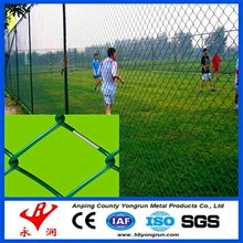 ISO9001 manufacturer 80x80mm 9 gauge pvc coated chain link fence