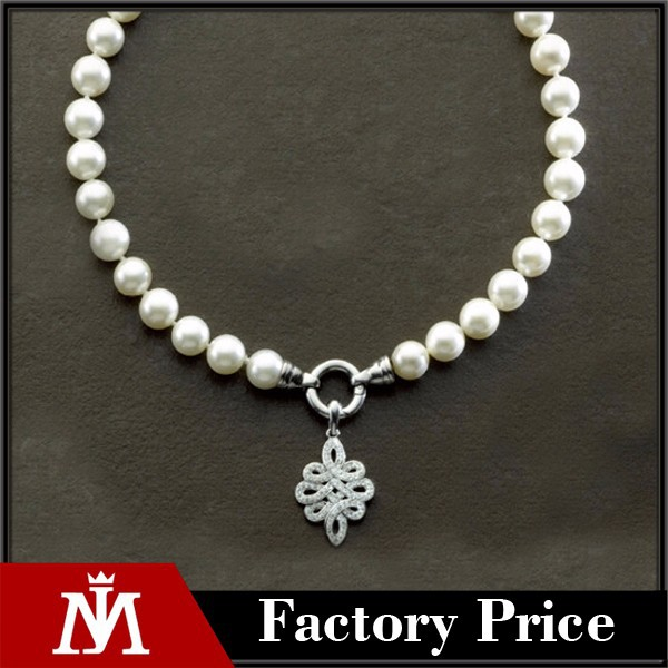 2015 mj jewelry wedding pendant pearl necklace with