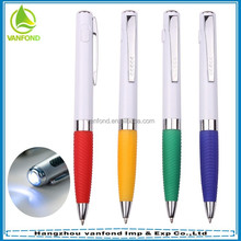 Good quality cheap price ball pen with led light/ projector pen for meeting light pen
