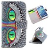 Top selling Wallet Style Cross Texture leather case for Samsung Galaxy S4 case