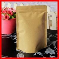 High Quality 18cm*30cm+5cm Bottom *140micron Dog Food Self Adhesive Bags Brown Kraft Paper Pouch