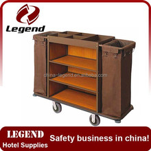 Customized Multi-function iron Hotel cleaning trolley cart