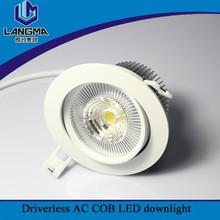Langma COB 38 degree 1100lm downlight kit 10w led recessed downlight