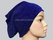 New polyester Under Scarf Shawl Bonnet Hijab saprkle Tube royal blue