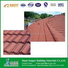 glazed stone chip coated metallic roofing tile classical style