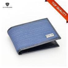 Bi-Fold Flap Closure Nylon & Genuine Leather Elegance Dollar Wallet