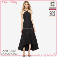 hot sell newest fashion halter neck night dress 2015 with flare bottom
