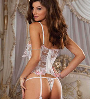 Accept OEM sexy white see transparent extreme lingerie