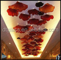 Light Up Glass Angel For Luxury Hotel Celling Christmas Decorative