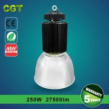 250w LED high bay light 5 years warranty workshop warehouse garage stadium light
