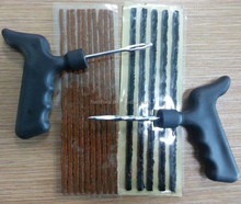 Tire seal insert string and repair tools kit