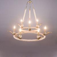 Archaistic modern home lighting decoration with edison bulb lamp handmade hemp rope pendant lamp for restaurant / living room