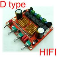 Good sound! 100W+50W+50W 2.1-Channel Class D digital audio amplifier board ,super subwoofer ,HIFI 3channels12-30V 102dB
