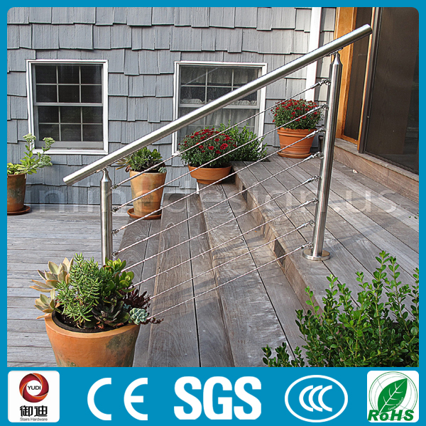 Outdoor lowes price square stainless steel cable railings