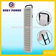Hot sale wall mounted solar charging battery backup rechargeable 72 emergency light with stand