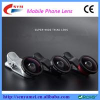 New Arrival Mobile Phone Camera Lens cover Fisheye Lens , 3 in 1 Zoom Lens for Mobile Phone