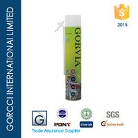 Straw type Expanding PU foam sealant and gap filler foam sealant /Gorvia Item-E