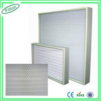 Filton 99.995% 0.3um Mini Pleat Hepa Filter Hepa Filter h11 h12 Panel Fan Filter H13 14