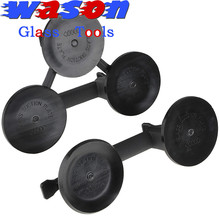 Black Powerful glass 3-cup suction cups for lifting glass or other plate things