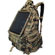 outdoor used camouflage laptop bags solar powered backpack for army