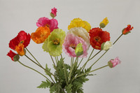 variegate wholesale silk flowers iceland poppy for home decoration