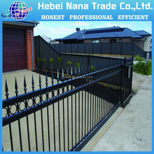 Powder coated hot dip galvanized commercial fence,ornamental cast iron, aluminium gates villa, entry door fram