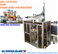 Top in type IML robot food packing container plastic biscuit packaging box