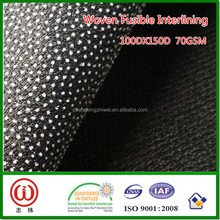 Fusible feature 100%Polyester Dot fuse interlining Garment interlining for Egypt Pakistan Turkey Bangladesh Vietnam