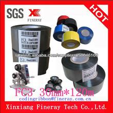 FC3 30mm*120m estampado en caliente cinta para dexpiry código de fecha