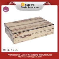 Glossy Wood Venner Jewelry Decorative Box / Fancy MDF Jewelry Box Case