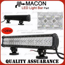New Product! 20 Inch 50000 hours Life time amber led light bar 126W for road vehicle atvs trucks