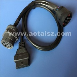 Factory price 9pin J1939 Male to Female +obd 9pin female connector cable