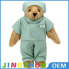 Fashional New Style Soft Plush Toy With Uniform, Plush Nurse Bear Toy