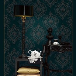 10M roll European luxurious Off-white/Red/grey/green damask vinyl wallpaper fine gorgeous background wall paper