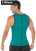 2015 I-Glam Men Reversible Waist Cincher Latex Rubber Strap Corsets Body Shape Body SLIMMING