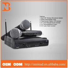 Best Sale Cheap Price Dual VHF Wireless Microphone