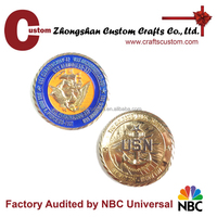 Custom USA 3D engraved challenge coin in metal crafts