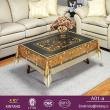 best selling brushed golden and silver waterproof coffee pvc table cloth