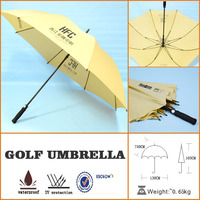 advertising funny golf umbrella with customizing logo printing
