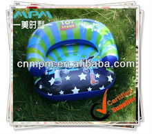inflatable kids chair with cover printing, blue air small sofa,inflatable child sofa for boy