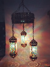 Mosaic glass modern Turkish style of pendant lamp for hotel decorative