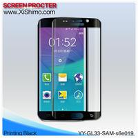 Mobile phone/cell phone/LCD monitor 0.3mm 9H 3D tempered glass protective film for Samsung Galaxy S6 edge