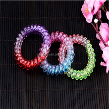 5.5cm diameter Space dye color telephone wire hair band/organic hair tie/galaxy hair band