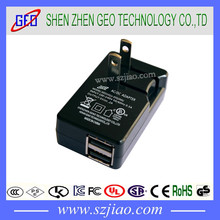 5v 2a micro usb power adapter/dual usb wall charger