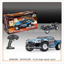 Escala 1:16 2.4g hz de alta velocidad rc modelo de corto- curso de camiones