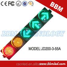 200mm arrow ball caution traffic light