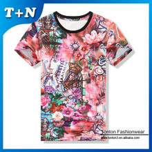 advertising 3d design mens club polyester spandex t-shirts