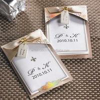 Gold Ribbon Wedding Invitations Cards +Envelopes + Seals/M13008