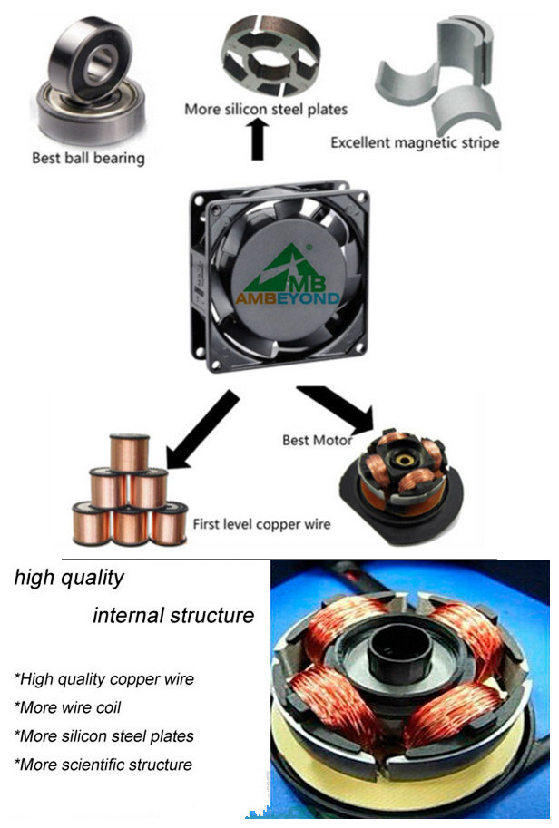 China Manufacture Dc 9238 Brushless Cooling Fan 92 92 38mm